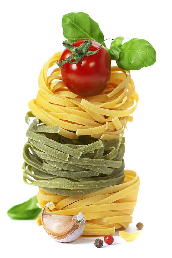 Cellulose and food fibres from JELU reduce the susceptibility of pasta to breakage.