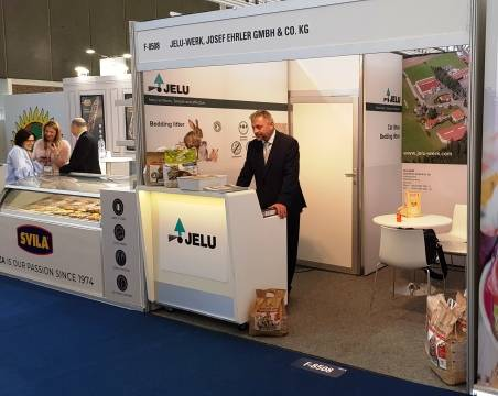 JELU stand shortly before exhibition start