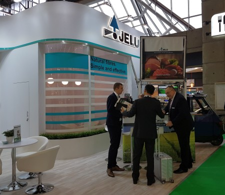 JELU fair stand and employees at FIE 2019