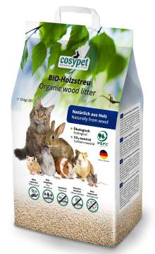 COSYPET® wood litter is available in different sizes