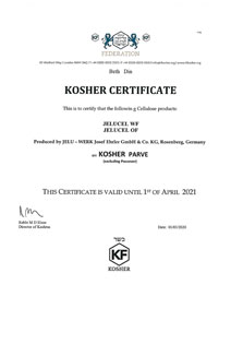 Kosher certificate (WF, OF)