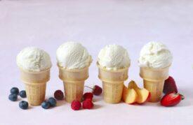Ice cream cones: symbolic picture for using plant fibres as a texturiser in ice cream